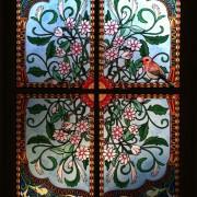 Fensterfolie, Buntglas, Fensterdeko, Raumgestaltung, Glasdekor, Illustration, colorfol