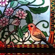 Fensterfolie, Buntglas, Fensterdeko, Raumgestaltung, Glasdekor, Illustration, Interior, colorfol