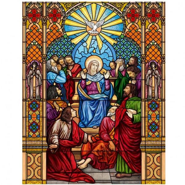 Buntglasfensterfolie Kirchenfenster als Sichtschutz und Fensterdekor - Kirchenfenster Motiv
