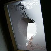 Fensterfolie, Fenstertatoo, Fensterdeko, Raumgestaltung, Glasdekor, Muster