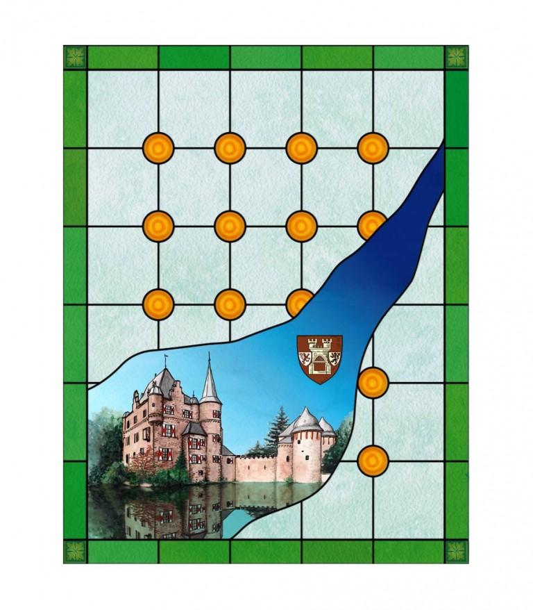 Buntglasfolie Butzen als Sichtschutz und Fensterdekor Butzen Imitat