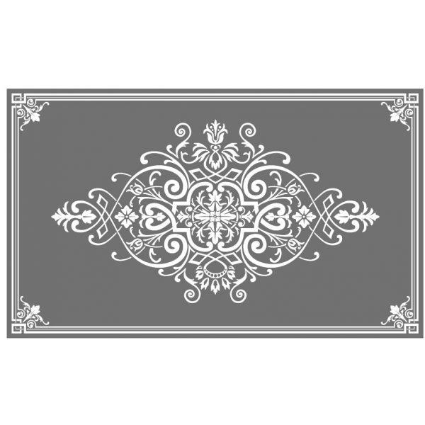 Glasdekorfolie, Milchglasfolie, Ätzglasimitat, Viktorianisch, Sichtschutz, Ätzglas, Ornament