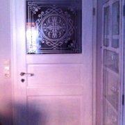 Glasdekor Ornament, Glasdekorfolie, Viktorianisch, Sichtschutz, Äzglas, Milchglas