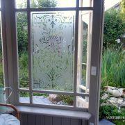 Glasdekor Barock, Fensterfolie, Fensterdeko, Raumgestaltung, Ornament, Muster