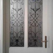 Fensterfolie, Glasdekorfolie, Viktorianisch, Sichtschutz, Äzglas, Milchglas, Ornament